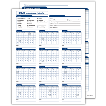 2021 Attendance Calendar | Resourceful Compliance