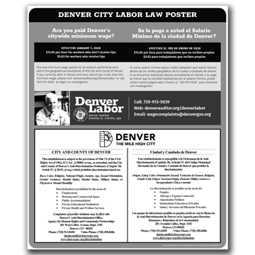 Denver- All-in-One City Poster