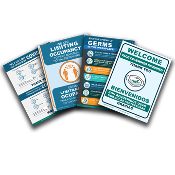 Stop the Spread of Germs and Covid-19 Essential Poster Kit