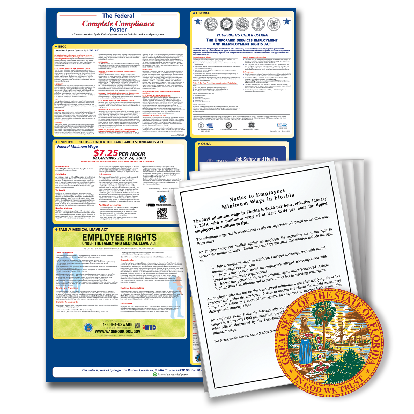 2020 Spanish Florida Federal And State Labor Law Poster Combo Resourceful Compliance