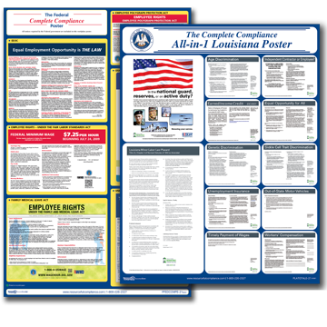 Louisiana Combined Federal and State Posters plus Update Service