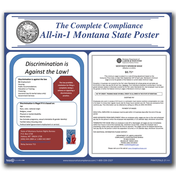Montana All-in-1 State Poster