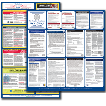 New Jersey Combined Federal and State Posters plus Update Service