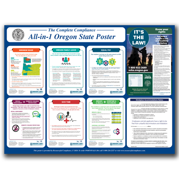Oregon All-in-1 State Poster