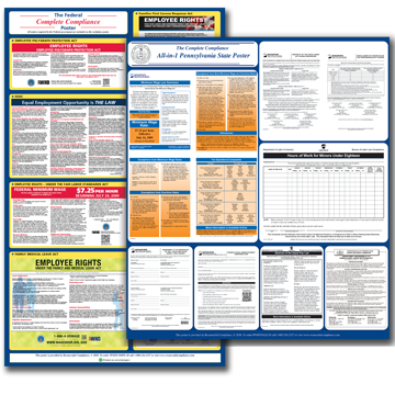 Pennsylvania Combined Federal and State Posters plus Update Service
